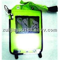 Solar back packing cell phone charger &lighting