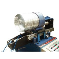 Spiral perforated duct machine