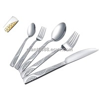 Stainless Steel Cutlery Hotel Ware/Stainless Steel Silver Cutlery and Gold Cutlery Set