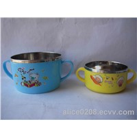 Steel children bowl , Steel children cups , Cartoon children bowl