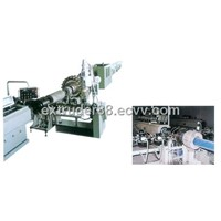 Steel wire reinforcing plastic pipe extrusion line