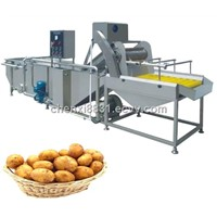 TK-W200 HIGH QUALITY POTATO WASHING MACHINE/VEGETABLE&FRUIT CLEANER IN CHINA