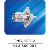 TNC female connector with flange,microstrip,TNC-KFD