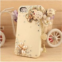 Tassel diamond shell for iphone 4/4 s creative mobile phone shell
