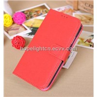 Toothpick Marks Leather Flip Cover for Samsung S4/i9500 Mobile Phone Accessories