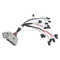 Transplanter display console wire harness