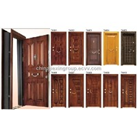 Turkish Style Steel Wood Armored Doors Adjustable Door Frame