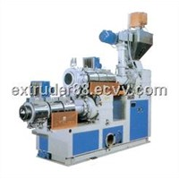 Two-stage reclaimed extruding & pelletizing unit