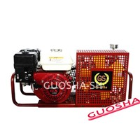 Underwater breathing apparatus of high pressure air compressor(200 bar 20 mpa gasoline)