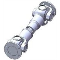 Universal joint shaft coupling