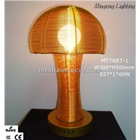 Unusual design aluminum mushroom table lamp MT7687-1