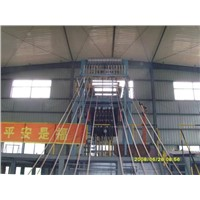 Upward continuous casting line for copper rod