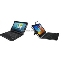 "bluetooth keyboard with leather case for galaxy tab 10.1""  1&2 (KRXKB17)"