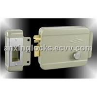 building door lock Gray painting electric lock with cylinder AX001