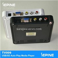 factory hot sale vga out sd flash card digital media player