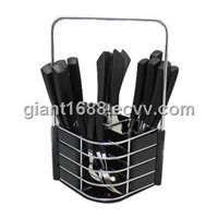 Factory Price of Stainless Steel Plastic Handle Cutlery 24pcs Gp190