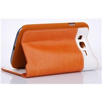 Flip Cover Leather Material Wallet for Samsung Galaxy S4/i9500 Housing Mobile Phone Accessories