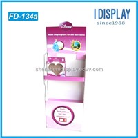 Floor Standing Display Units for CD Book Mobile Phone Paper Cardboard Display Rack Stand