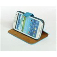 for samsung galaxy i9300 leather cover case