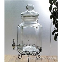 giant clear glass pot with tap