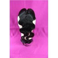 huamn hair closure body wave bleached knots closure