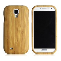 natural bamboo material case for samsung galaxy s4 bamboo case