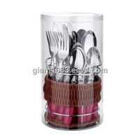 Plastic Handle Cutlery Set with Craft Basket GP109