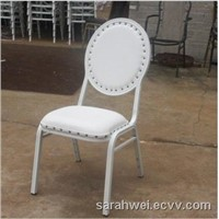 pu metal banquet hotel dining chair