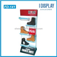 shop shoes floor cardboard display rack
