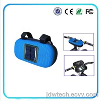 solar charger bag with speaker for bicycle  .convenience and fashion