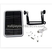 solar charger for mobile phone with 15piece LED