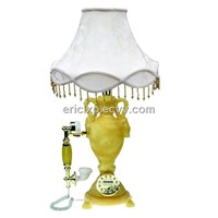 table lamp with telephone,classic telephone made withComposite materials