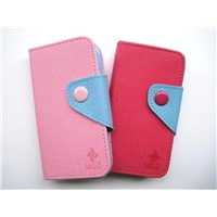 (ten bag of) bump color leather case for iphone 4/4 s cases