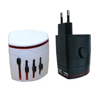 universal travel adapter for gift with USB universal travel adapter