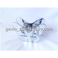 glass butterfly candle holder oil burner