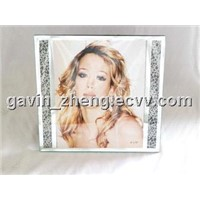 snow leopard pattern glass photo frames 8x10inch