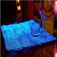 Luminous optical fiber fabric