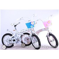 "12""printed children bicycle with basket"