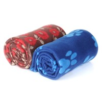 Kingpets Dotted Paw Dog Blanket From Upetstore.com