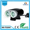 Hot!!! 2200Lm High Lumen With Good Price 5Modes Rechargeable Smart Bike Light