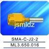 SMA male connector ,crimp style,straight,connecting 2mm diameter insulator ,2 layer braid shield