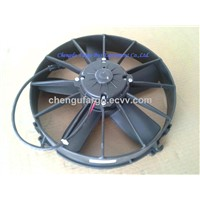 Auto condenser fan for bus air conditioning
