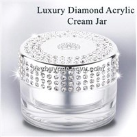 Diamond Cap Acrylic Jar For cosmetic packing