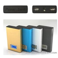 HUGE CAPACITY!!!Dual output ports Aluminum portable 8000mAh power station/power bank-Y45