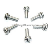 Pan Head Assemblies-Spring Lock Washer & Plain Washer/Sems Machine Screws M3M4M5M6
