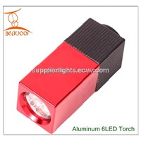 Promotional gifts Aluminum 6LED Torch Flashlight
