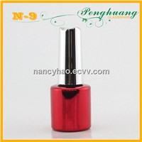Red UV nail polish glass bottle