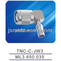 TNC male connector ,crimp,right angle,TNC-C-JW3
