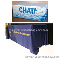 Trade show display advertising table cover