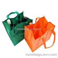 Wine Bags(KM-WNB0104) with Interval, Non-Woven Bags, Gift Bags, Promotion Packing Bags, Carry Bag